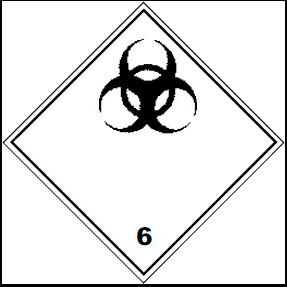 Знак опасности ADR 6.2 Инфекционные вещества