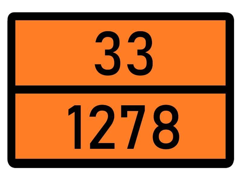 Табличка опасный груз для ADR 3 класса