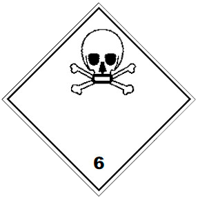 Знак опасности ADR 6.1 Токсичные вещества
