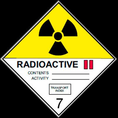 Знак ADR 7 подкласс 2