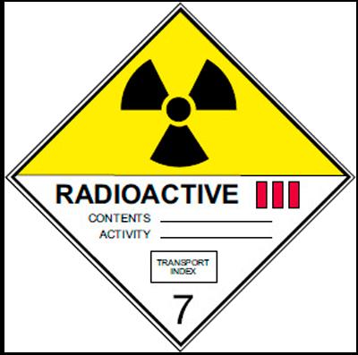Знак ADR 7 подкласс 3