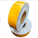Желтая лента для контурной маркировки транспорта